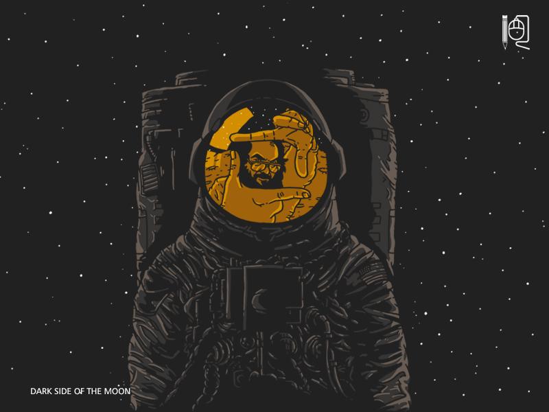 Dark side of the Moon by rodrigobhz