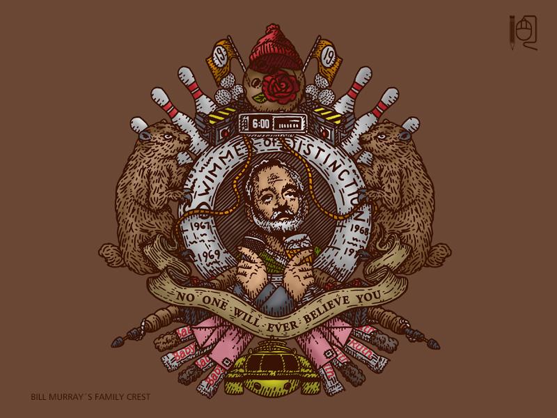 Bill Murray family crest by rodrigobhz