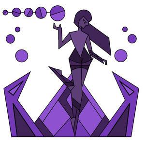 Purple Diamond Mural