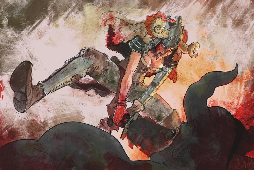 viking samurai by Hirosh1ma