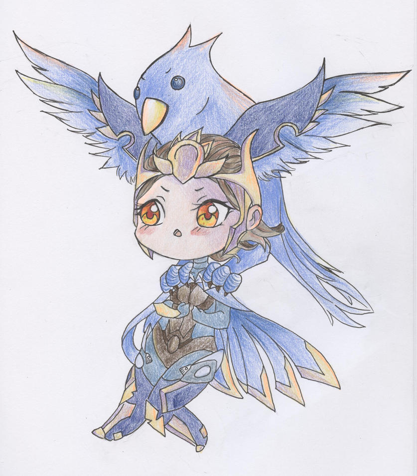 Chibi Quinn and Valor by CountessDeCreppe