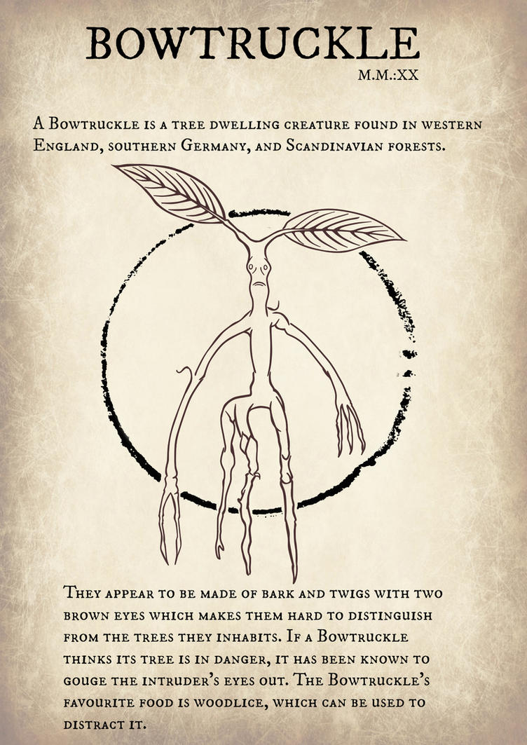 Bowtruckle Fantastic Beasts And Where To Find Them By Guilarts