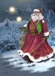 Faux Fur Santa