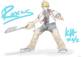 Roxas sketch by delightfulanimefreak