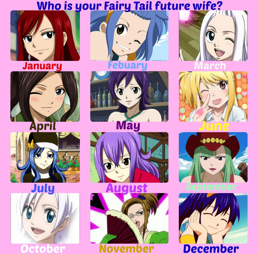 Anime Characters Born On May 6 : Fairy tail future wife by mgness on deviantart