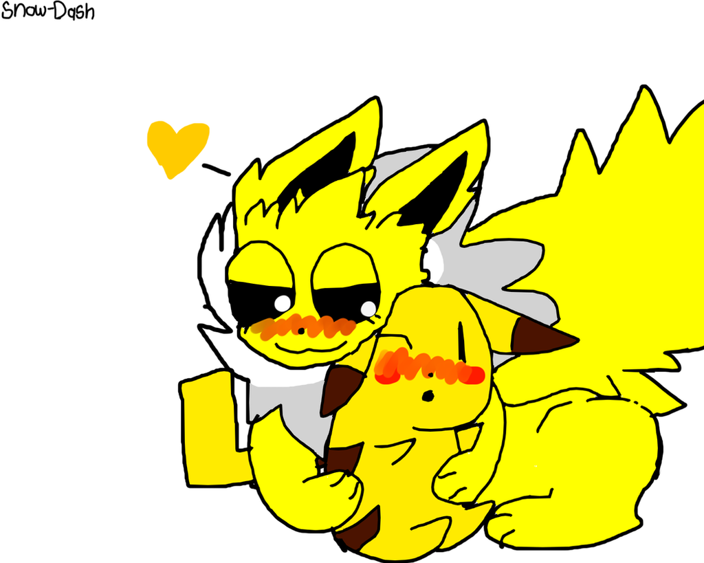 jolteon x pikachu by snowdash on deviantart