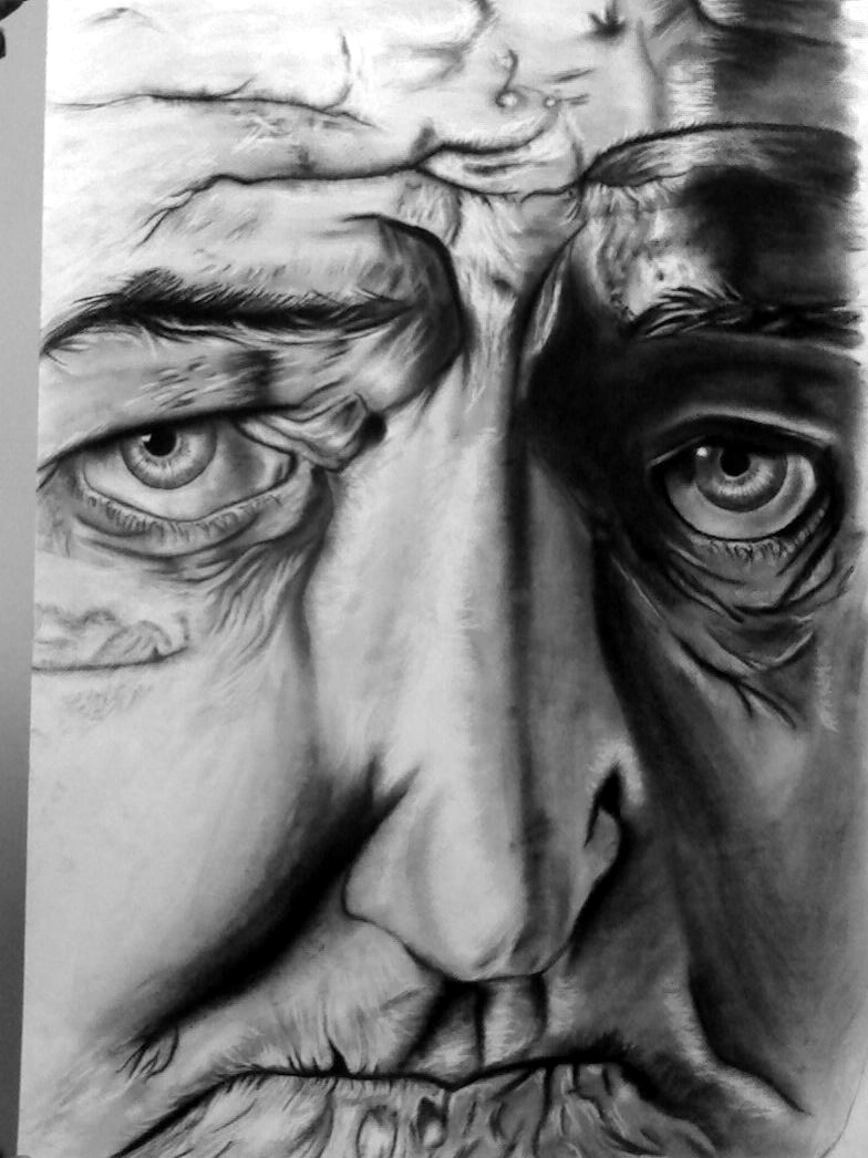 old mans face drawing - photo #46