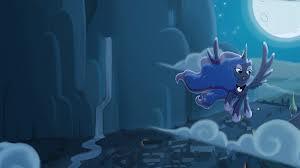 Luna llegando a Canterlot by Princesa-cadence