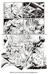 Jerry Ordway pencils 01 Blip Martindale inks by BlipMartindale