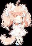 SPARKLE CHIB: sakura blossom floral puppy