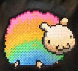 Rainbow Perler Sheep