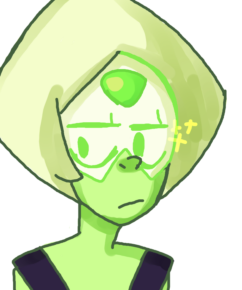 I was going to draw Amethyst but I figured in spirit of the new episode I would draw Peridot, Also I love her. She is amazing and nothing you say can make me think otherwiseShe's a cutie and ...