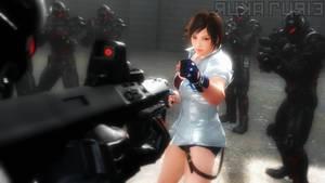 Asuka Kazama - Tekken Force by lucalancez