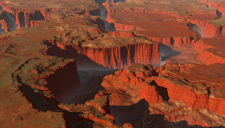 Canyon At Dawn by zioSergio