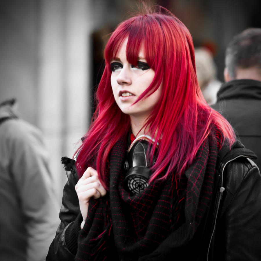 Girl with very red hair