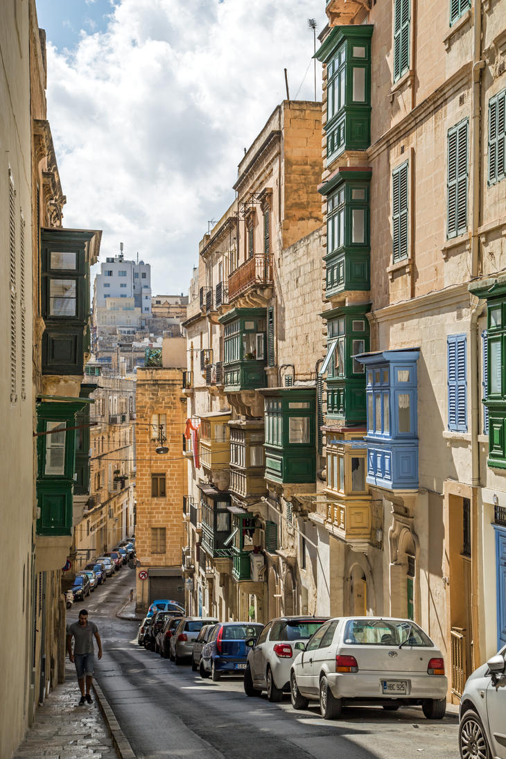 Another Valetta Street by attomanen