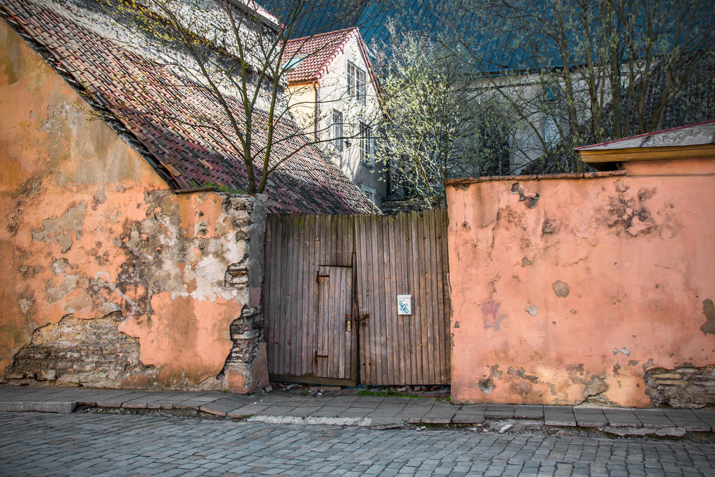 A gate in Old Tallinn by attomanen