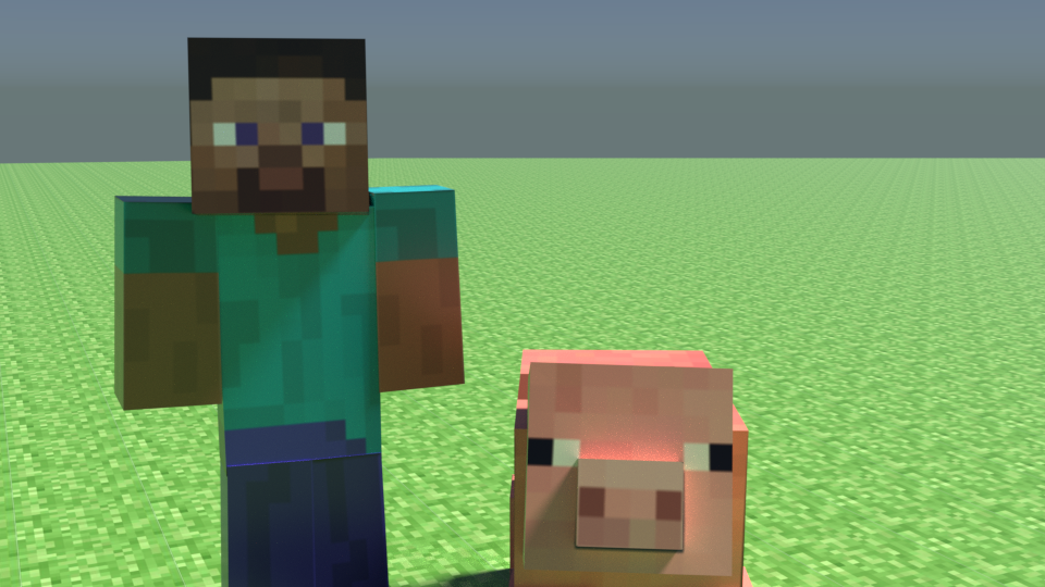 Steve and a Pig by Frannis