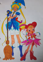 Sailor Moon cross Doremi Part 1 (Colored) by darkskyluna