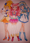 Sailor Etoile, Yell and Ange~ (Colored)