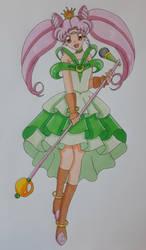 Chibiusa Idol Dress (Colored) by darkskyluna