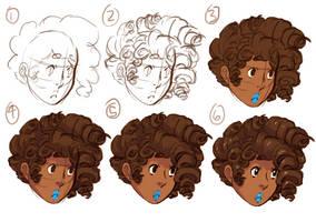 Curly Hair Tutorial by meltypeach