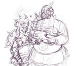 junk family, in skirts,
