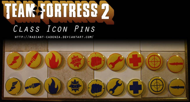 Team Fortress 2 Class Icon Pins by Radiant-Cadenza