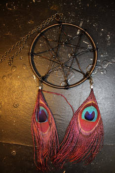 Nontraditional Dreamcatcher: Wire and Peacock