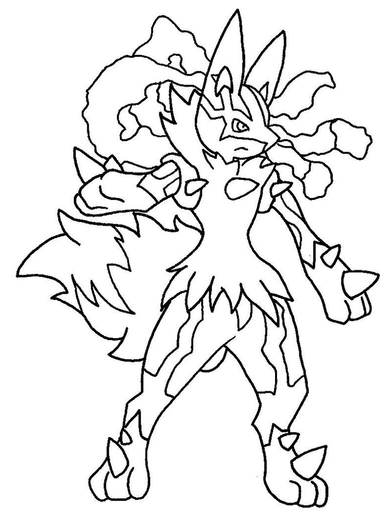 Pokemon coloring pages mega lucario - Related Keywords Suggestions For How To Draw Mega Lucario
