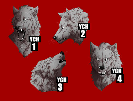 WOLF HEADSHOT MULTISLOT YCHs [CLOSED]