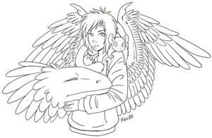 Aaron the Dragon Boy - lines by Kiiro-chan