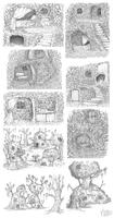 Shadowland Hut Sketches by Kiiro-chan
