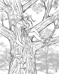 Eiichiro and the Bamboo Flute - sketch by Kiiro-chan