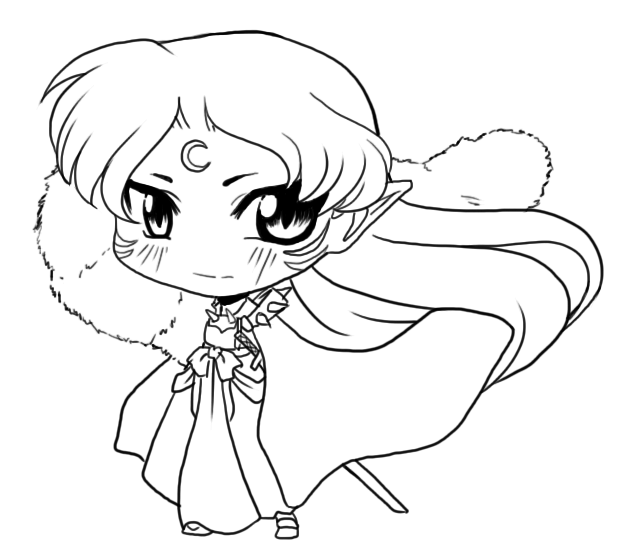 Free To Color Sesshomaru Chibi By Aeridis