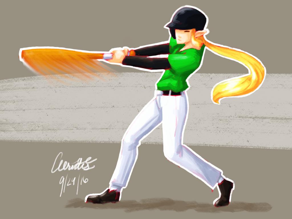 LoZ: MG - Link the Baseball Player by Aeridis