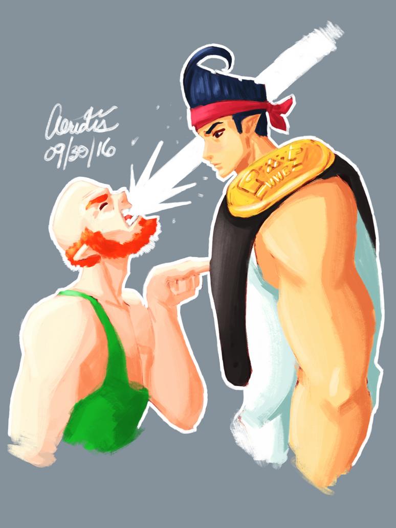 LoZ: MG - Goga the Pro Wrestler by Aeridis