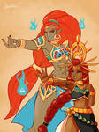 LoZ: BotW - Urbosa and Riju
