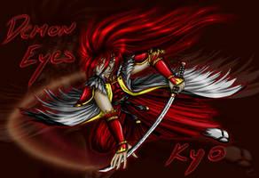 Demon Eyes Kyo by caleyndar