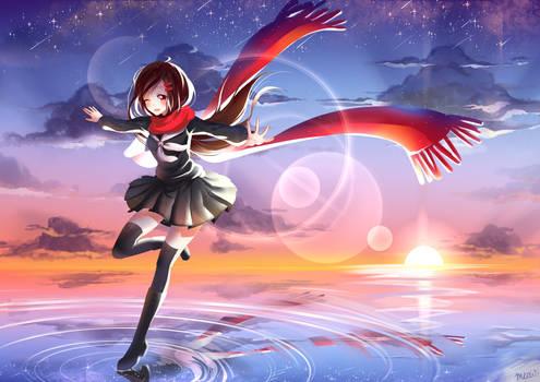 Ayano dancing on the horizon - Kagepro
