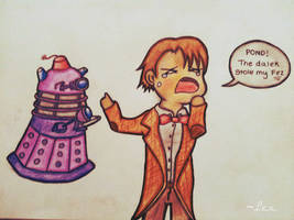 The Dalek stole the 11th Doctor's Fez by AlexandraGates