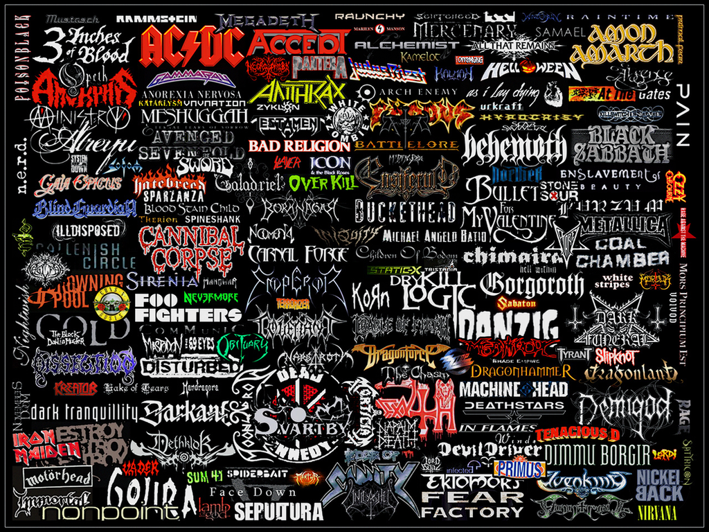 Mostly Metal Logo Collage by WarZard on DeviantArt