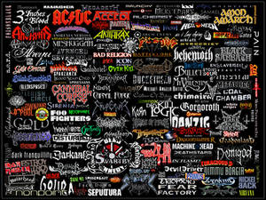 Mostly Metal Logo Collage