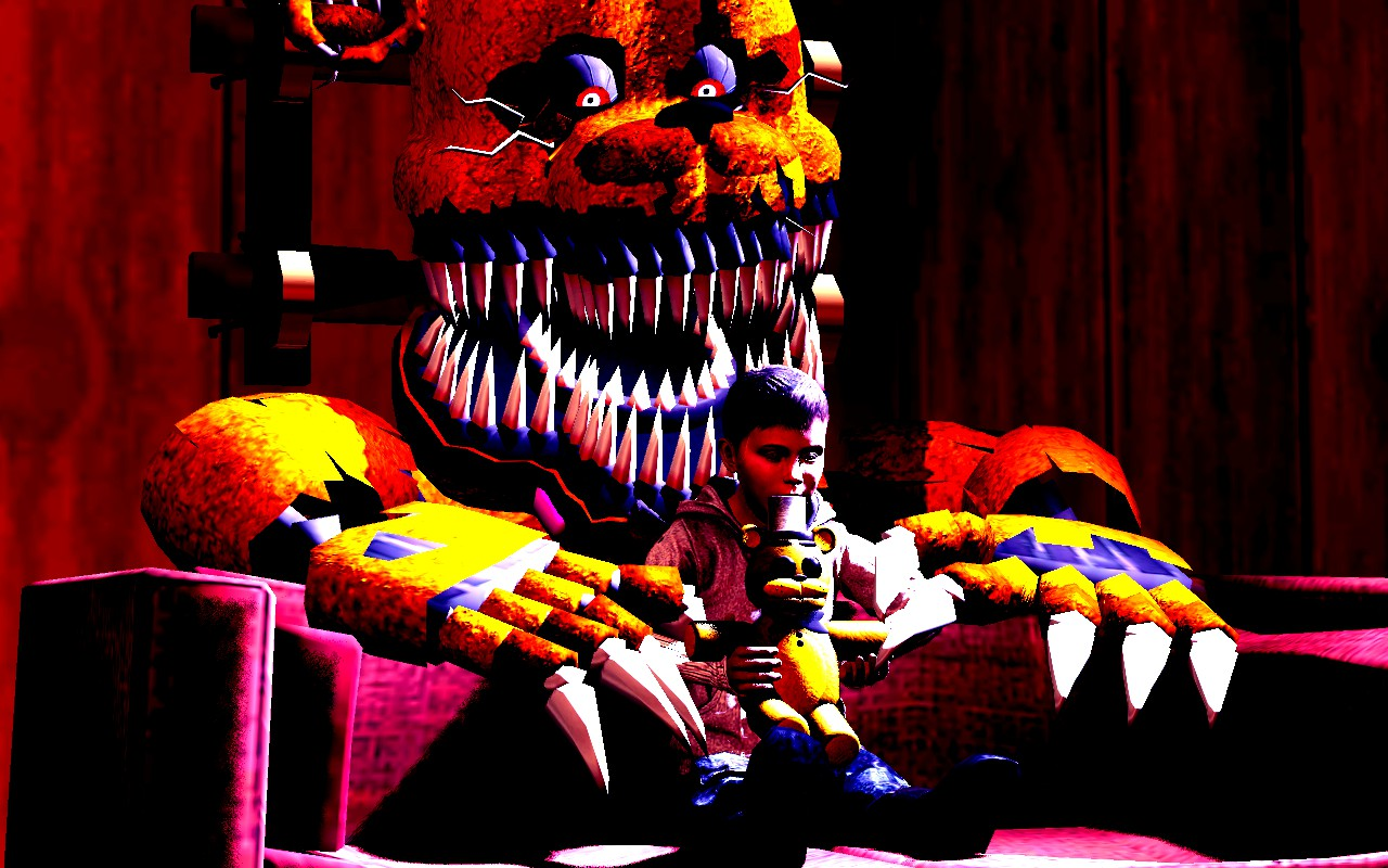 Fredbear playing with Crying Child by Felix5314 on DeviantArt