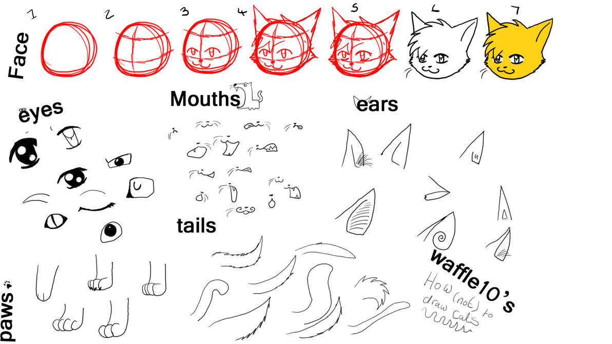 How To Draw Those Anime Cats By Waffle10