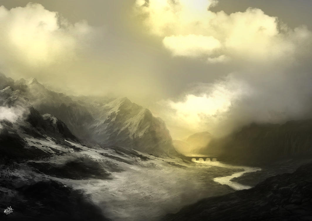 Skyrim landscape by ellepsis456