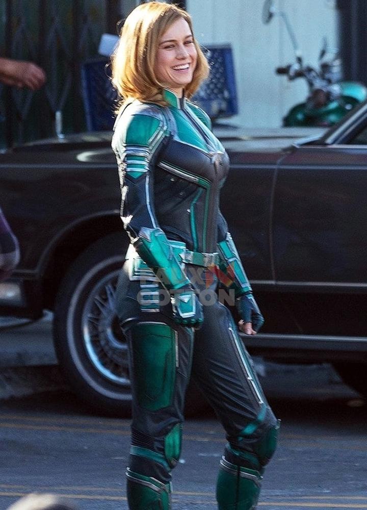 Captain Marvel Carol Danvers Brie Larson Costume By Fauxncotton On Deviantart Captain marvel, warbird, binary and ms. captain marvel carol danvers brie