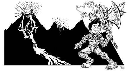 Cartoon Axeman
