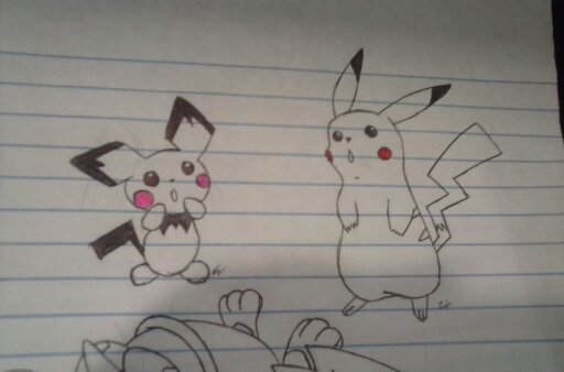 Pichu and Pikachu by darkkittenangel