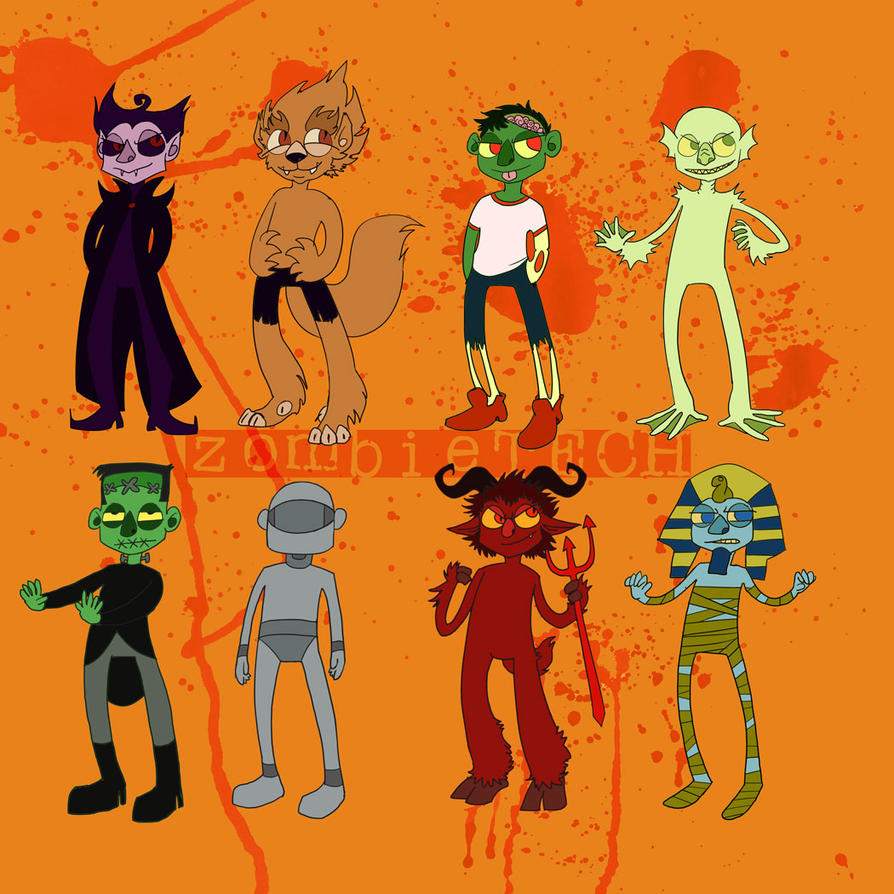 Halloween Monsters by ZombieTECH on DeviantArt